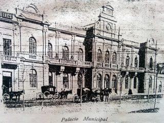 El Palacio Municipal, hacia 1906.