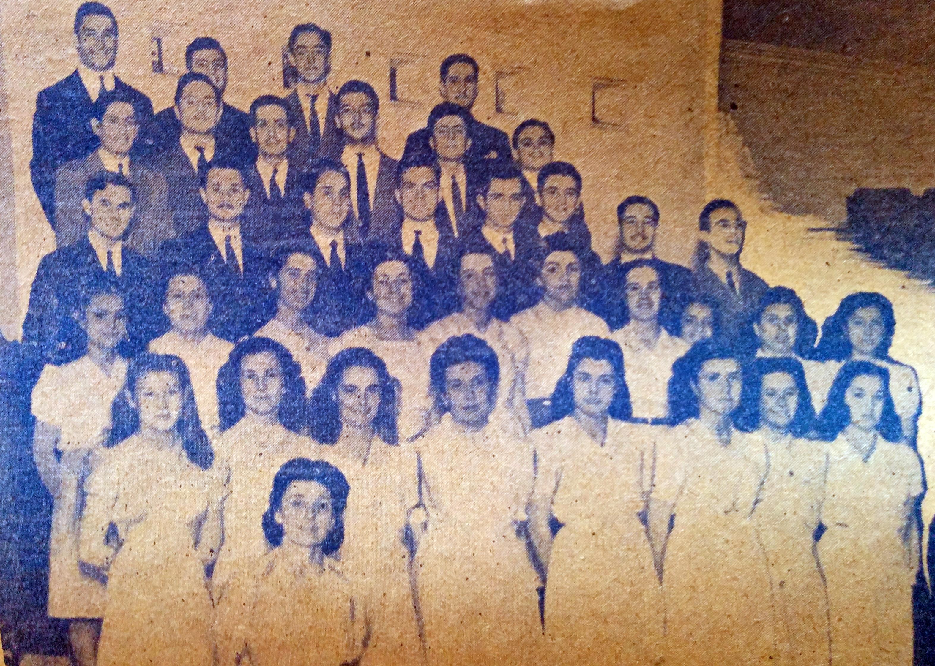 El Coro Maq-Ver, en una actuación de 1946.