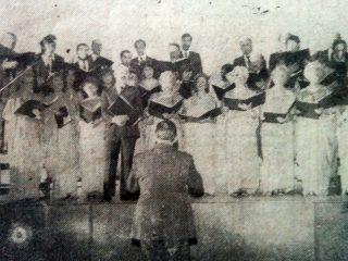 El Coro Maq-Ver, en un recital de 1981.