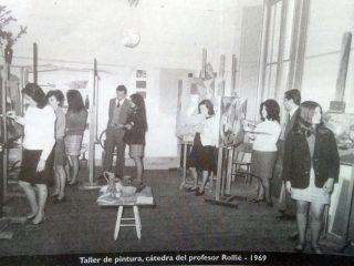 Taller de la Escuela Superior de Artes Visuales, en 1969.