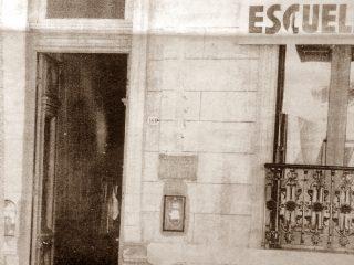 Fachada de la primera y  antigua sede de la Escuela Superior de Artes Visuales, en la Avenida Soarez.