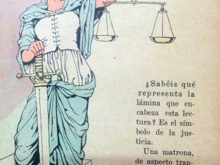 """Representación simbólica de la Justicia. Según el derecho romano, """"Justicia, era la constante y perpetua voluntad de dar a cada uno lo suyo"""". El físico y filósofo francés, Blas Pascal  (1623-1662), en tanto, expresó que: """"No pudiendo lograrse, que lo justo sea fuerte, se ha hecho, que lo fuerte sea justo"""""""