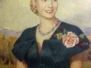 """Estampa fotográfica, de María Eva Duarte de Perón, en su libro titulado """"La Razón de mi vida"""", que se publicó, por la editorial Peuser, en el mes de septiembre de 1951."""