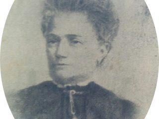 Doña Herminia Gardella de Cores, primera presidenta del Patronato de la Infancia, en 1899.