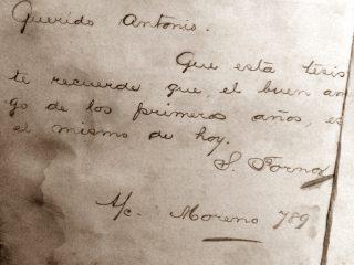 Texto de puño y letra, del Dr. Santiago Fornos, en su tesis de 1886.