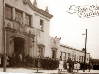 Fachada del edificio del Colegio Nacional «José Hernández», inaugurado el 17 de mayo de 1939.
