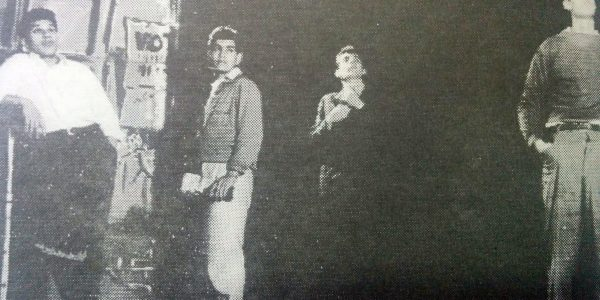 """Debut del elenco dramático del Teatro """"El Chasqui"""", en 1960."""