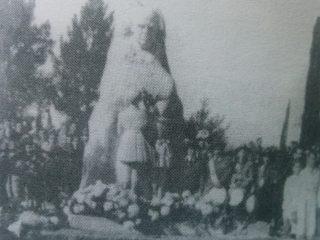 Inauguración del monumento sarimientino, el 25 de Mayo de 1944.