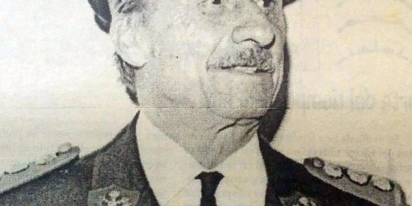 Herber Noemí Lavagnino, querido e inolvidable jefe y comandante del cuerpo activo de bomberos voluntarios de Chivilcoy, durante la década de 1970.