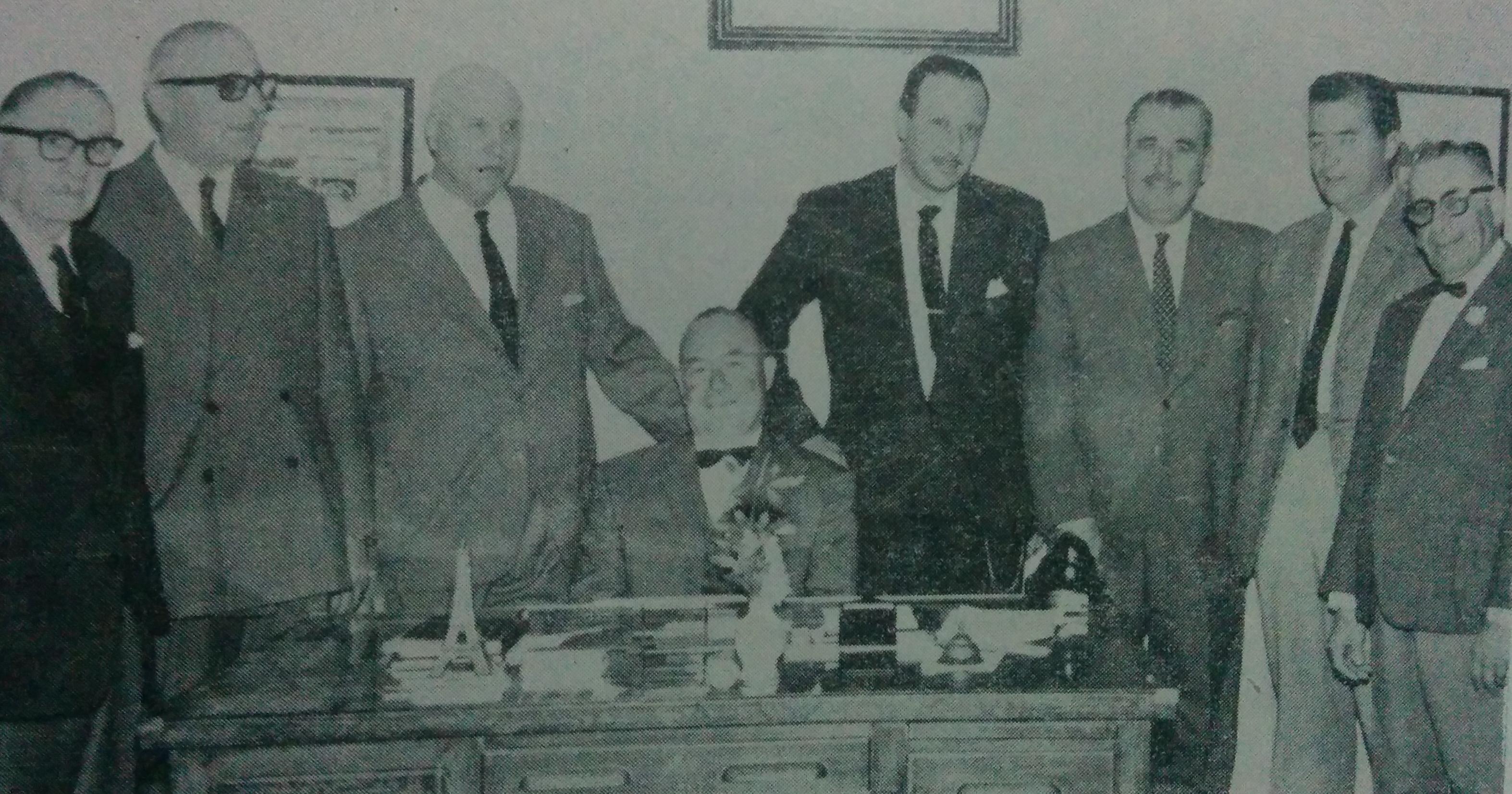 """Directorio de la firma """"Hacendados de Chivilcoy S.A."""", hacia el año 1965."""