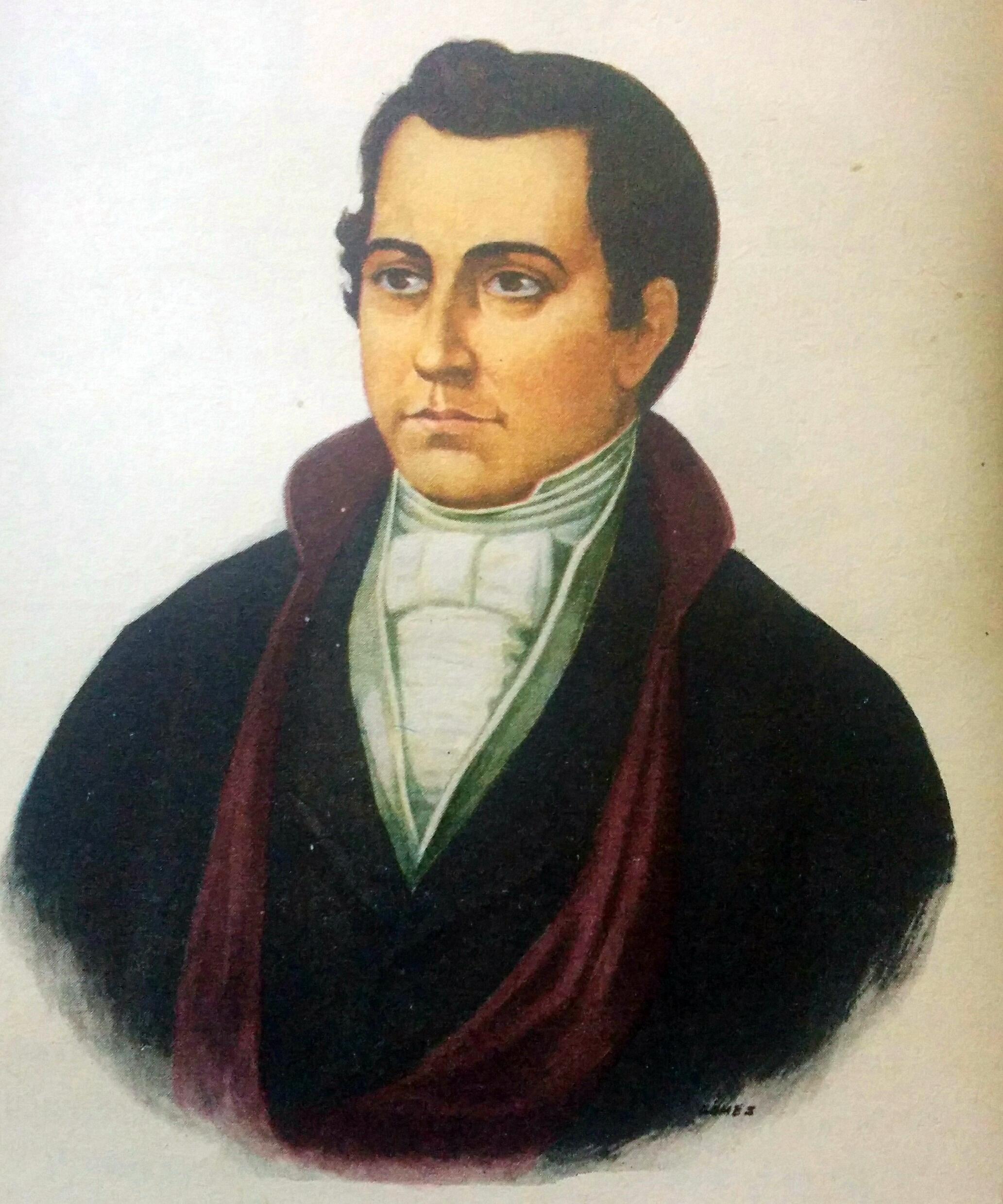 """El Dr. Mariano Moreno (1778-1811), fundador y director del periódico """"La Gaceta de Buenos Aires"""", el 7 de junio de 1810."""