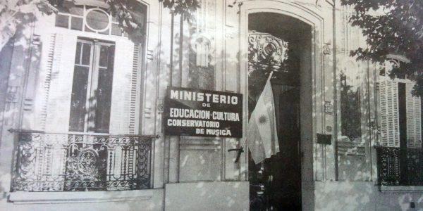 """Fachada de la sede del Conservatorio de Música """"Alberto Williams"""", inaugurada en agosto de 1983."""
