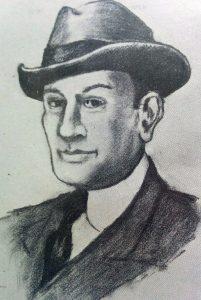 Pascual Contursi 1888-1932, en el dibujo al carbón, del escritor, periodista e investigador, Gaspar José Astarita, autor de una interesante biografía, sobre este memorable poeta popular.