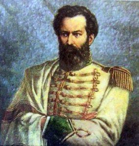 General Martín Miguel de Güemes, nacido el 7 de febrero de 1785, y fallecido el 17 de junio de 1821, en su lucha por la independencia de la Patria.