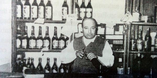 Don Vicente Serio, dueño del almacén, que visitó el escritor Jorge Luis Borges, en octubre de 1951.
