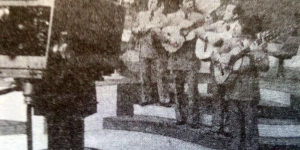 Presentación televisiva, del conjunto «Las Voces de Chivil-co» (Década de 1970).
