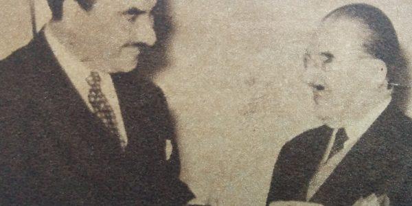 Julio Molina Cabral (1916-1992), cuando grababa sus exitosos temas, bajo el sello Odeón. (Septiembre de 1954).