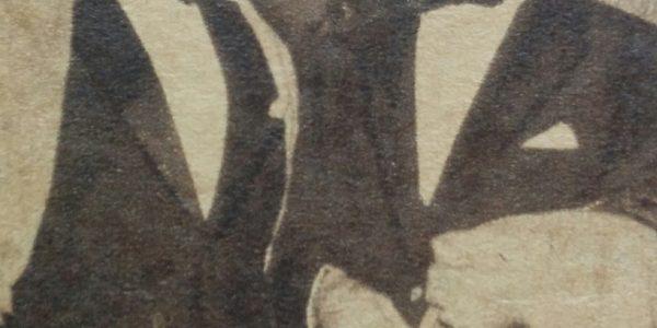 Julio Molina Cabral, junto al cantante de tangos, Edmundo Rivero.