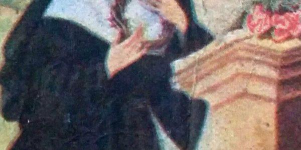 La imagen de Santa Rita de Cascia, cuya festividad religiosa, se celebra cada 22 de mayo.