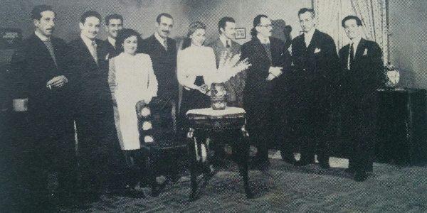 Ignacio Tankel, los intérpretes de la película y sus colaboradores.