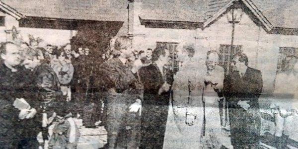 Ceremonia inaugural del cementerio parque.
