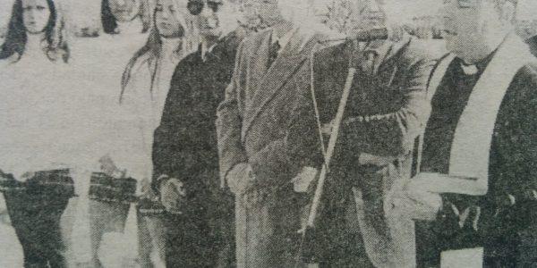 Acto de inauguración, del cementerio parque «Senderos de Paz», el 25 de junio de 1995.