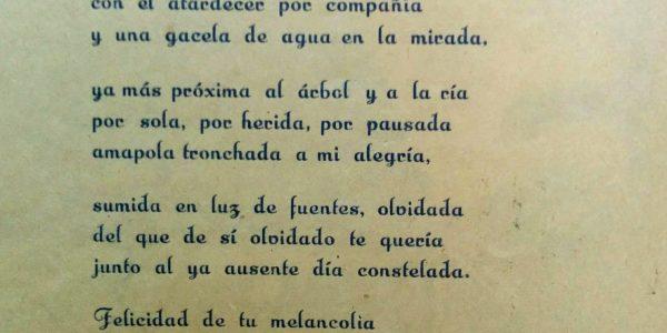 Poema de Julio Cortázar, publicado, bajo el seudónimo de Julio Denis, en el número uno del volante de arte literatura «Oeste», aparecido en el mes de julio de 1944. Fue seguramente, el único texto poético de Cortázar, difundido en Chivilcoy.