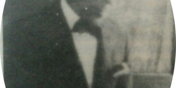 El pintor Don Juan Navarro Granados, primer presidente de la Agrupación Artística Chivilcoy, en 1916.