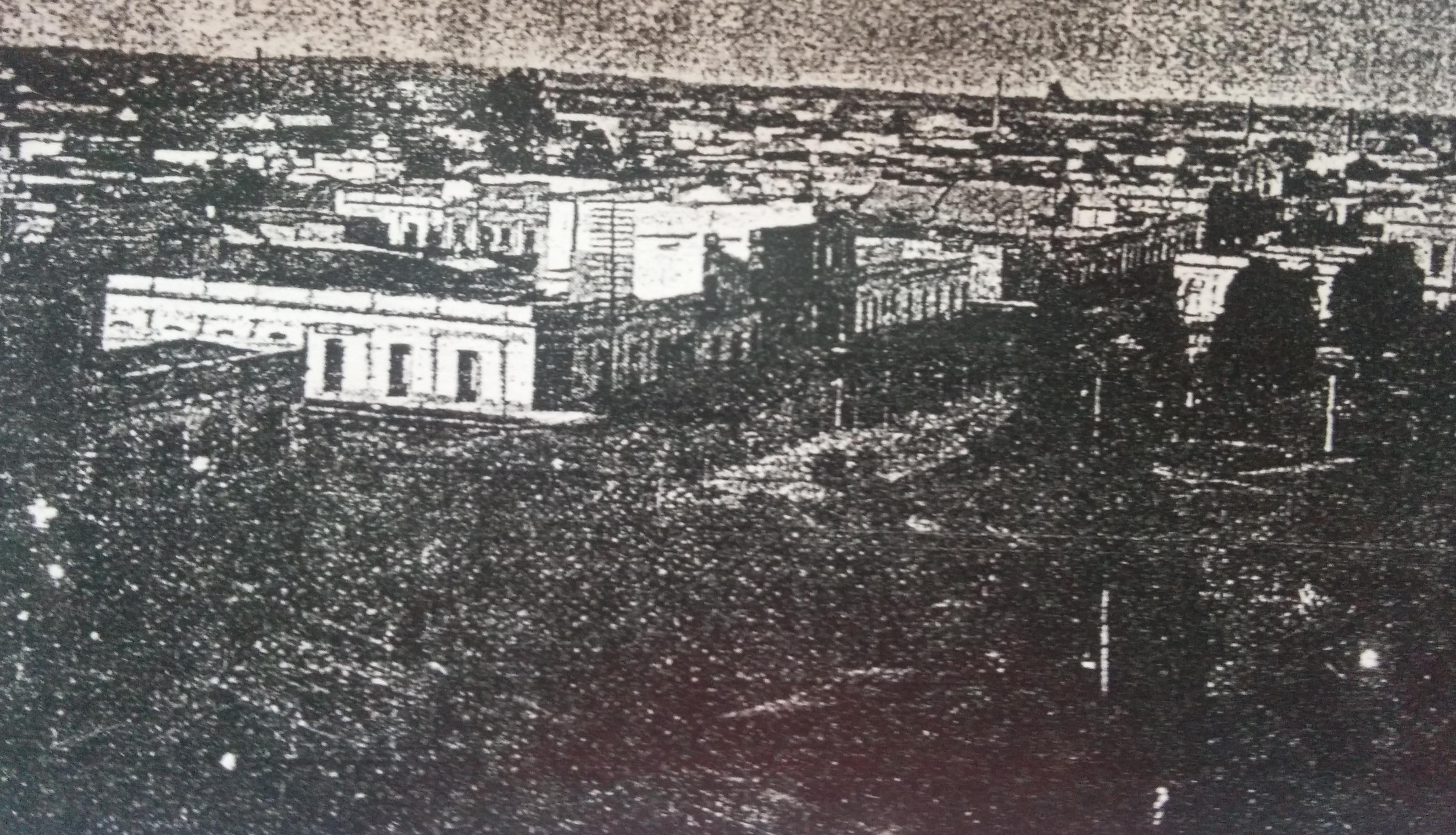 Imagen fotográfica de Chivilcoy, en 1905, al fundarse la Sociedad Argentina.