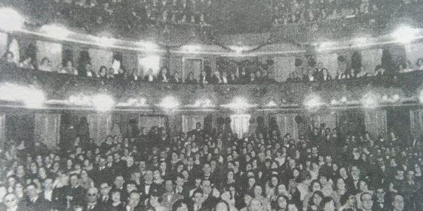 Sala del Teatro Español, en la función del 12 de octubre de 1920.
