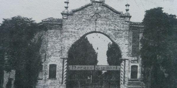 Fachada del antiguo y tradicional «Prado Español», inaugurado el 25 de enero de 1920, en la intersección de la avenida Güemes y la calle Maipú.