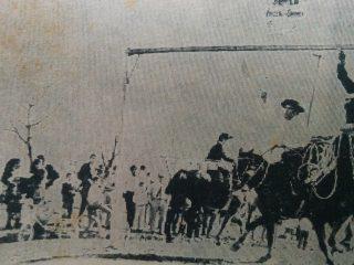 Las clásicas carreras de sortija, de la fiesta del Carmen, en la década de 1970.