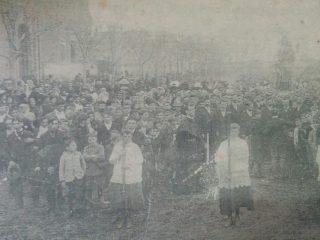 Procesión de la fiesta del Carmen, a principios del siglo XX.