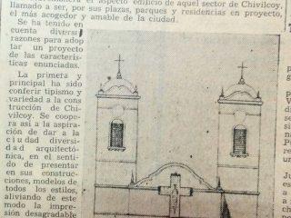 Plano de la Iglesia del Carmen, que comenzó a construirse, el 8 de septiembre de 1946.