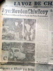 La nevada en Chivilcoy, del 16 de julio de 1973.