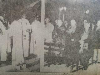 Oficio religioso, en la Parroquia del Carmen, el 16 de julio de 1973.