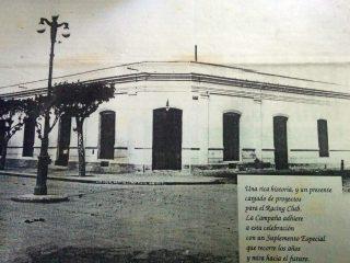 Antigua sede del Club Racing, en la esquina de la avenida Soarez y calle Alsina.