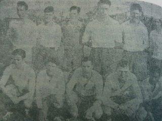 Equipo del Club Racing, campeón del Torneo de fútbol chivilcoyano, de 1934.
