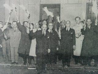 Velatorio simbílico de Eva Duarte de Perón, en Chivilcoy.
