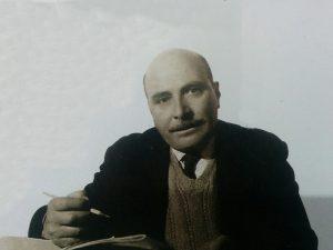 """El pintor José Antonio Speranza (1909-1987), fundador y ex director del Museo Municipal de Artes Plásticas """"Pompeo Boggio"""", inaugurado el 22 de octubre de 1946."""