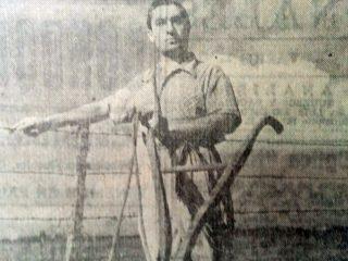 El actor Eduardo Direnzo, uno de los protagonistas de la película «La tierra será nuestra»