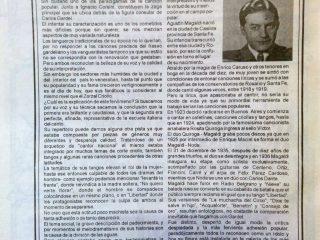 Evocación de Agustín Magaldi, en la revista «Recordando Tangos».