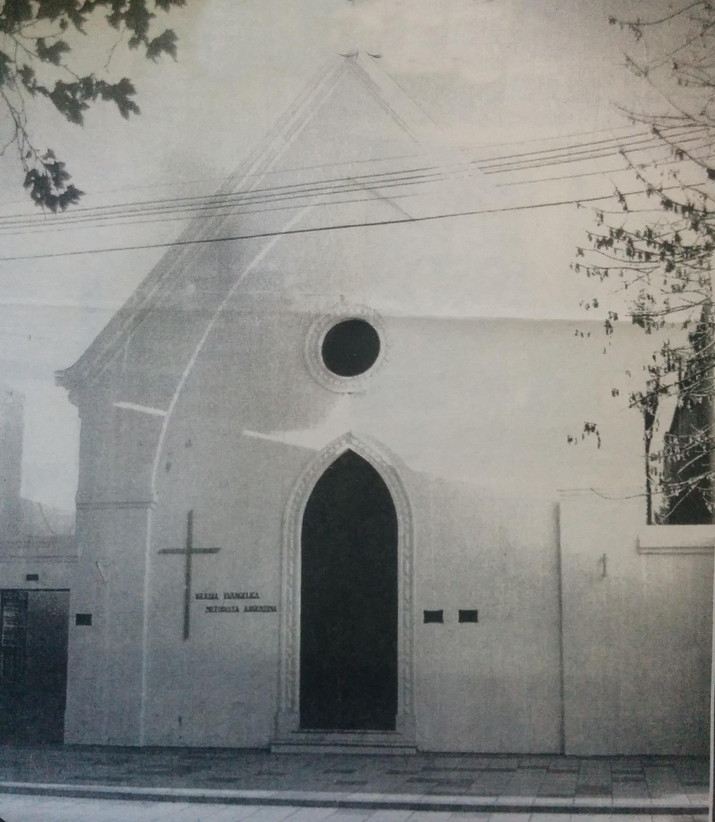 Fachada del templo de la Iglesia Evangélica Metodista, inaugurado el 10 de agosto de 1901.