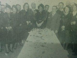 Inauguración del edificio del Sanatorio Chivilcoy, en 1940.