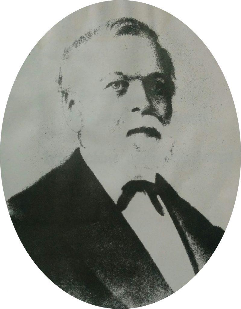 El inmigrante y colono alemán, Don Augusto Krause, nacido en 1811 y fallecido en 1881.