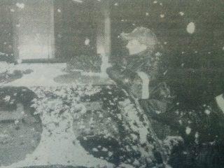 Imágenes fotográficas, de la nevada, del 12 de julio de 2000.