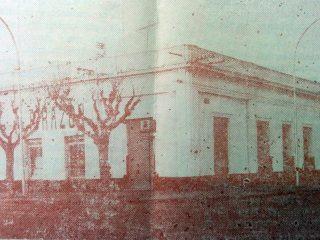 Fachada de la antigua sede, del matutino local, La Razón, en la esquina de la avenida Ceballos y calle Suipacha, donde se desmpeñó, como redactor, Vicente M. Barbieri, durante unos pocos años, de la década 1930.