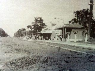 Postal de la antigua Estación Sud.