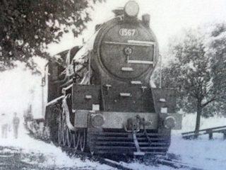 Antigua Locomotora ferroviaria.