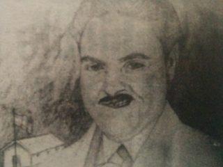 Retrato al lápiz, del maestro Tomás Casullo, por el prestigioso médico cirujano, y eximio dibujante, Dr. Daniel Emilio Pastorino (1926-2005).